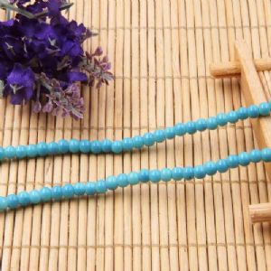 Beads, Glass, Blue , Round shape, Diameter 4mm, 40 Beads, [BHB0121]